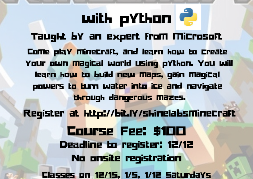 Learn how to program in Minecraft with Python